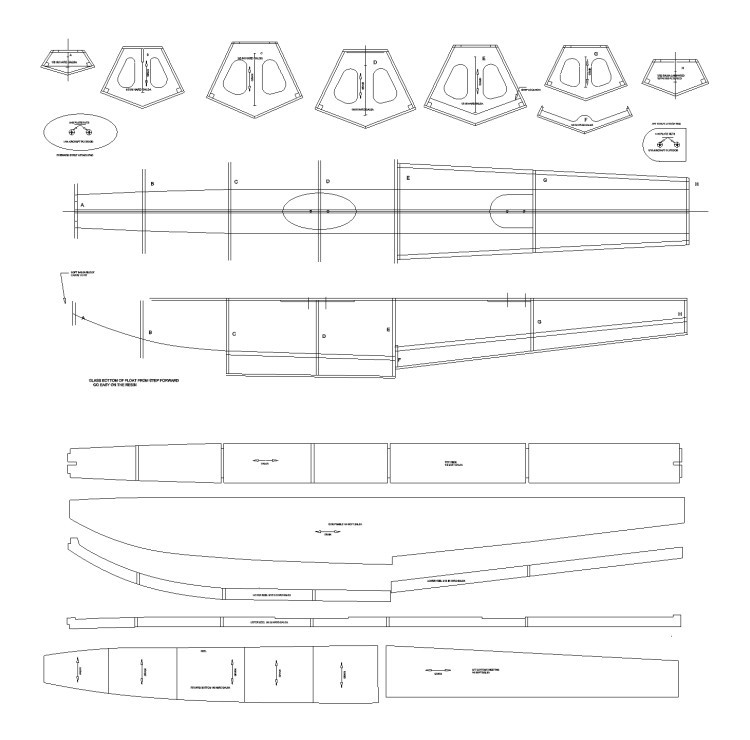 """40 """" Floats for Air float plane model airplane plan"""