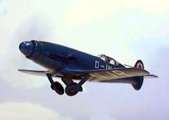 Messerschmitt Me 209 V1 model airplane plan
