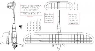 Mohawk Buzzard jr. model airplane plan