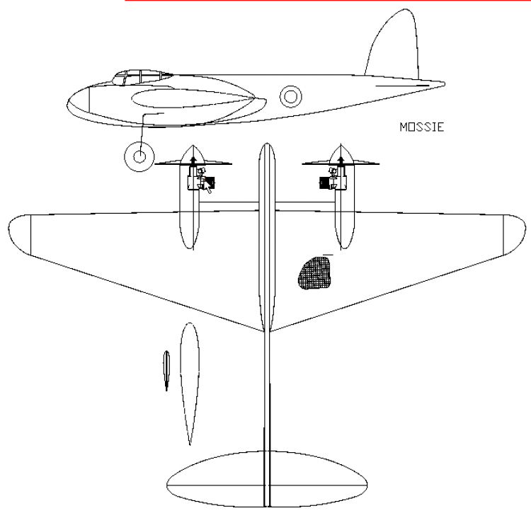 Mossie model airplane plan