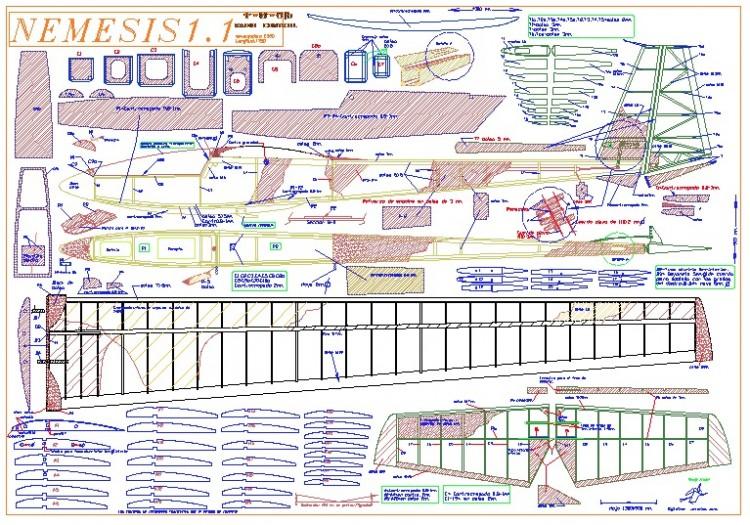 NEMESIS 1.1 model airplane plan