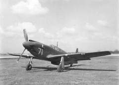 North American A-36 Mustang model airplane plan