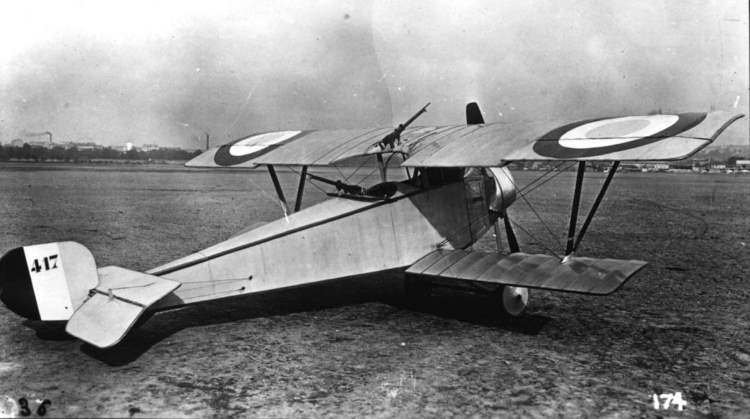 Nieuport Typ 11 model airplane plan