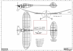 Vintage F/F Nomad model airplane plan