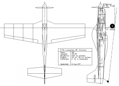 P-51 Lookalike RC Stunter model airplane plan