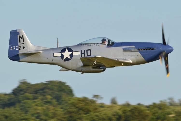 North American P-51D Mustang model airplane plan