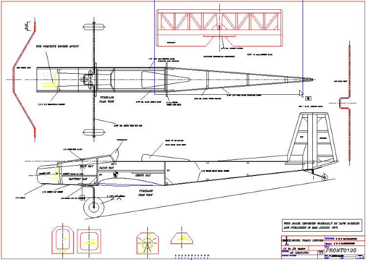 Pronto100 model airplane plan