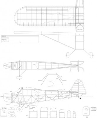 Piper Cub J3 model airplane plan
