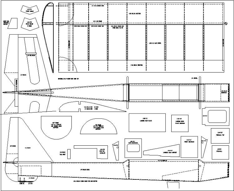 Pro Train model airplane plan
