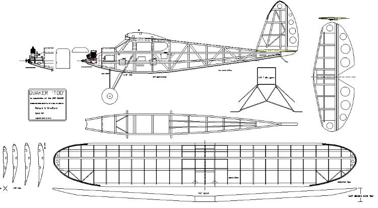 Quaker Too 1937 model airplane plan