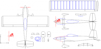 RV3 model airplane plan