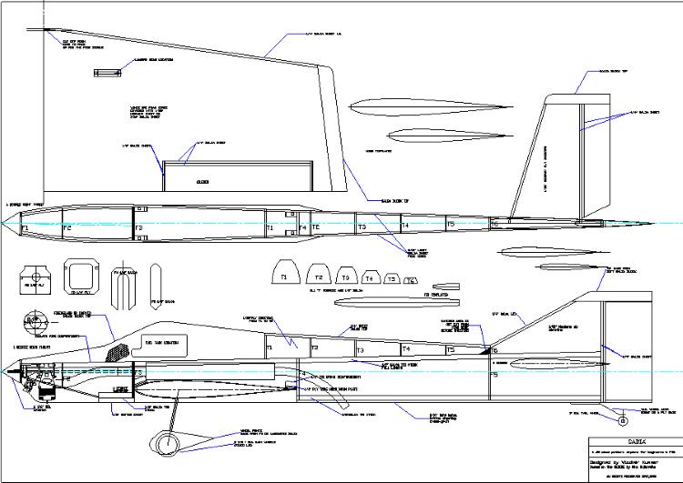 Sabia model airplane plan