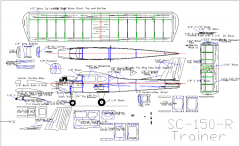 SC-150R Trainer (Balsa) model airplane plan
