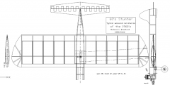 60's Stunter model airplane plan