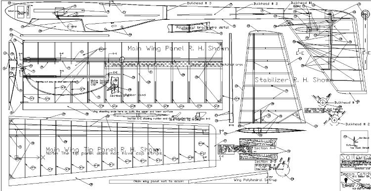 Sailaire Glider model airplane plan