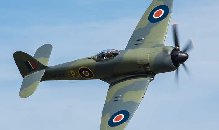 Hawker Sea Fury model airplane plan