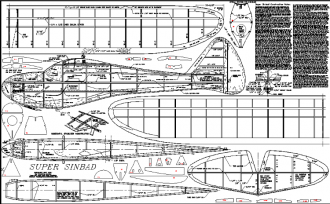 Super Sinbad model airplane plan