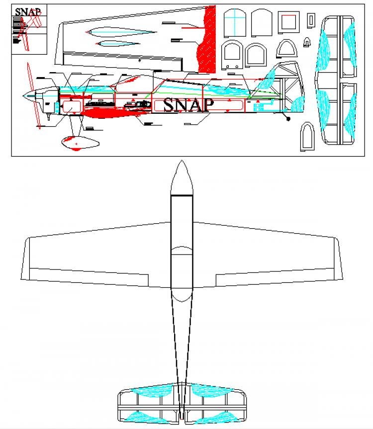 Snap model airplane plan