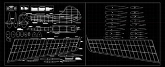 Sparrow Glider model airplane plan
