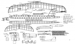 Swallow Gummimotor model airplane plan