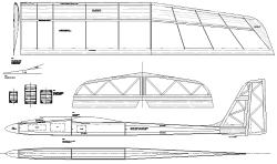 T-Dancer model airplane plan