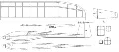 T TailA model airplane plan