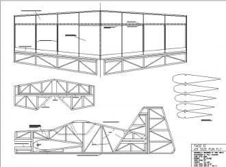 Taco II model airplane plan