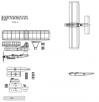 Terminator 400 model airplane plan