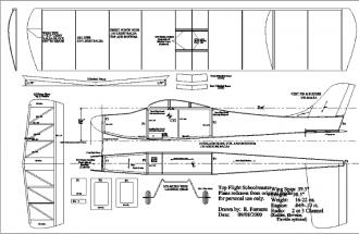 Top Flight Schoolmaster model airplane plan