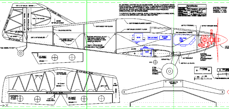 Tiger Sport model airplane plan