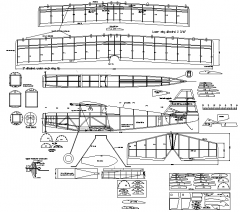 Ultimate bipe model airplane plan