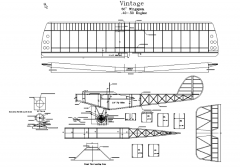 Vintage model airplane plan