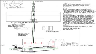 Vlados Trainer model airplane plan