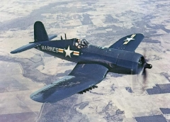 "Chance Vought F4U ""Corsair"" model airplane plan"