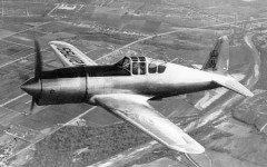 Vultee P-66 Vanguard model airplane plan