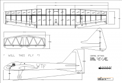 WTF25 - Twin 25 Sport model airplane plan