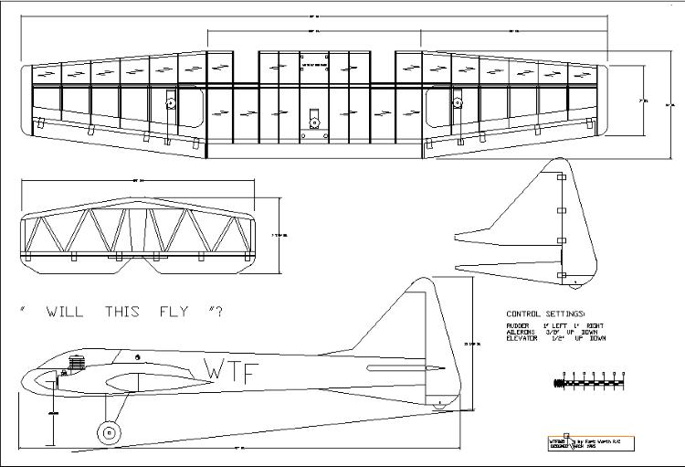 WTF25 - Twin 25 Sport model airplane plan