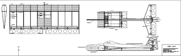 Sirex Wasp model airplane plan