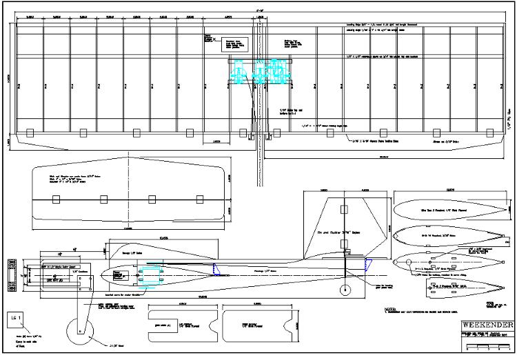 Weekender model airplane plan