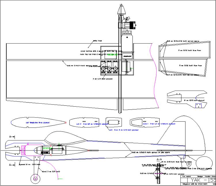 Yak 55 Sport model airplane plan