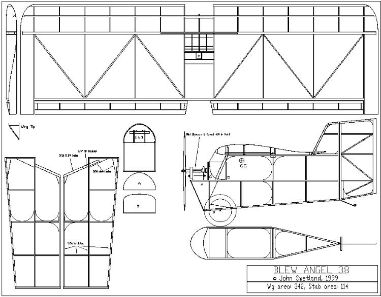 Blew Angel 38 model airplane plan