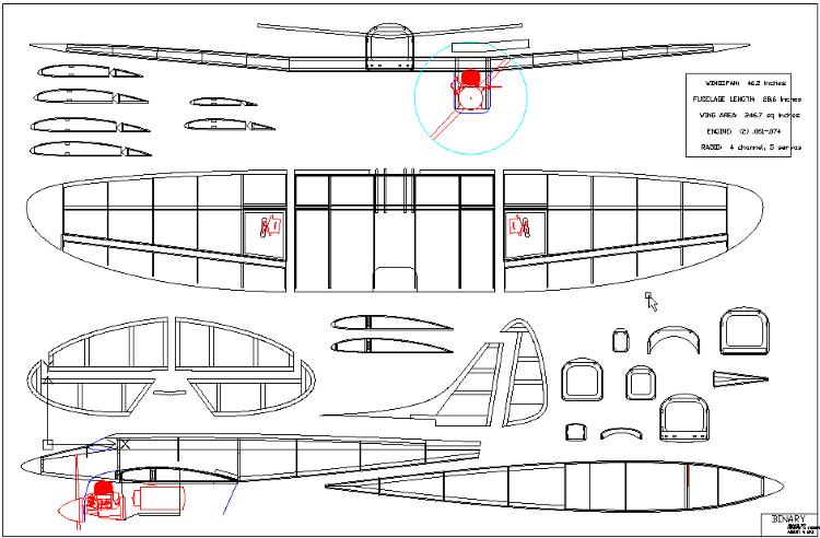 Binary 1 model airplane plan