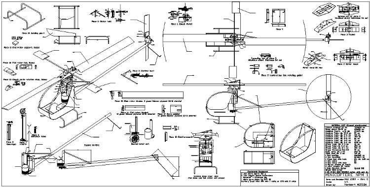 Minicoptere NPM 1 model airplane plan
