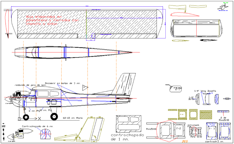 Entrenador sc150r model airplane plan