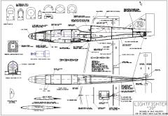 "Lightfighter 30"" model airplane plan"