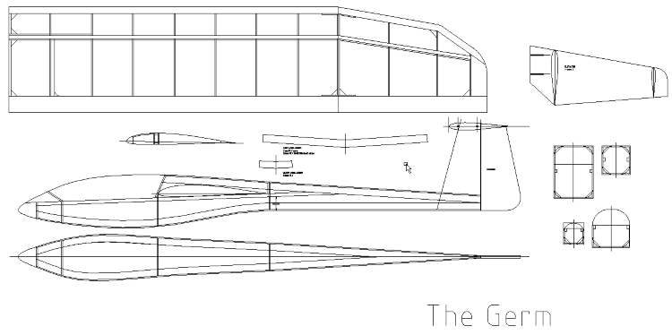 The Germ model airplane plan