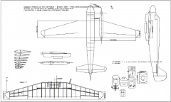 Goeland model airplane plan
