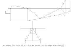 ULM minimum Type Part 103 US model airplane plan