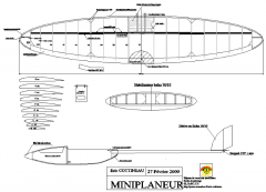 Miniplaneur model airplane plan