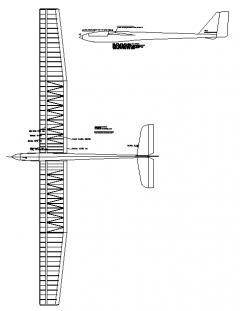 Motor Glider model airplane plan